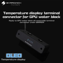 Barrow FBQTS Digital Display Temperature Bridges Mirror Edition For Barrow's Gpu Blocks Aluminum Alloy and POM New(China)