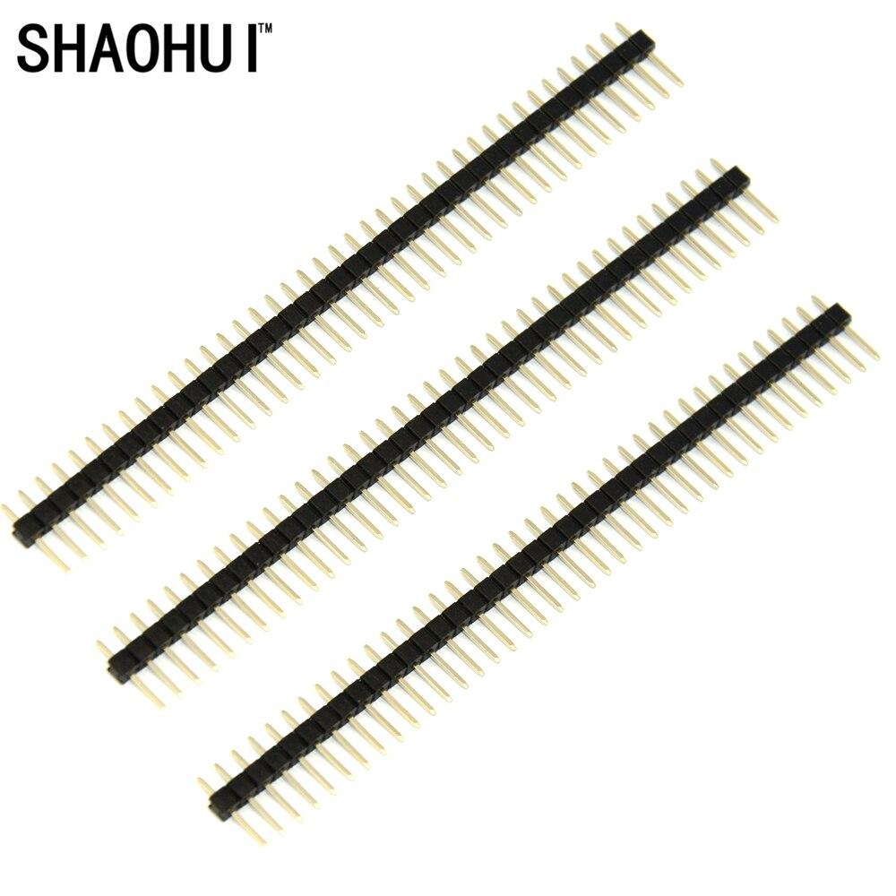 Shaohui Hot Sale10pcs Lot 40 Pin 1x40 Single Row Pria 254mm Pecah Sablon Thailand 12mm Header Connector Jalur Gratis Pengiriman