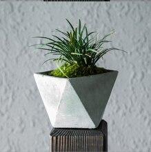 planter suculentas estilo geometra slida de concreto de cemento maceta unidspack para