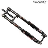 MTB DNM USD 8 FR shoulder Air Pressure DH mountain bike eBike Air Suspension Fork 203mm 20mm shock absorber