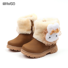MHWGO Boots Girls Boots Children's Rubber Boots Children's Winter Boots Uggs For Children Winter Footwear Children's Shoes