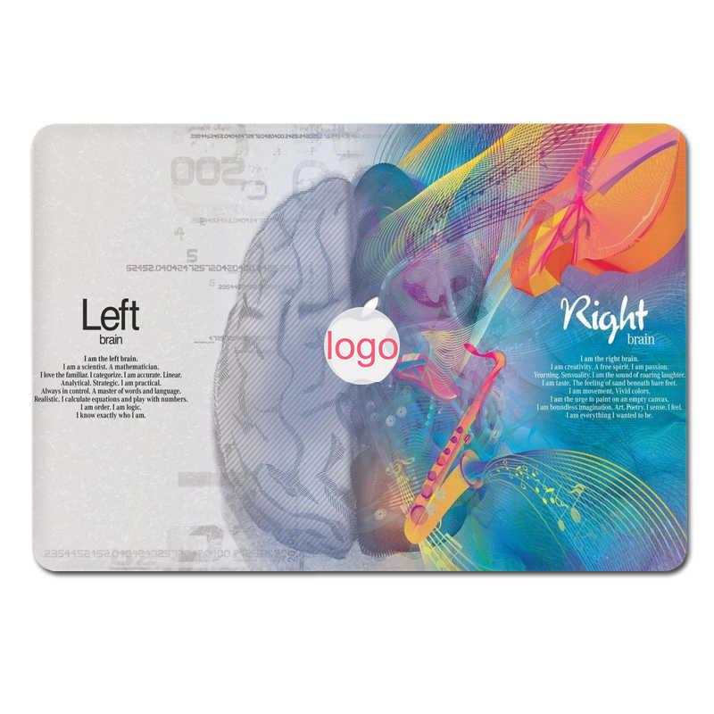 GOOYIYO-хит продаж, топ для ноутбука, виниловая наклейка, левая и правая кожа мозга для Macbook Air Retina Pro 11 12 13 15, наклейка, Подарочная пленка для экрана