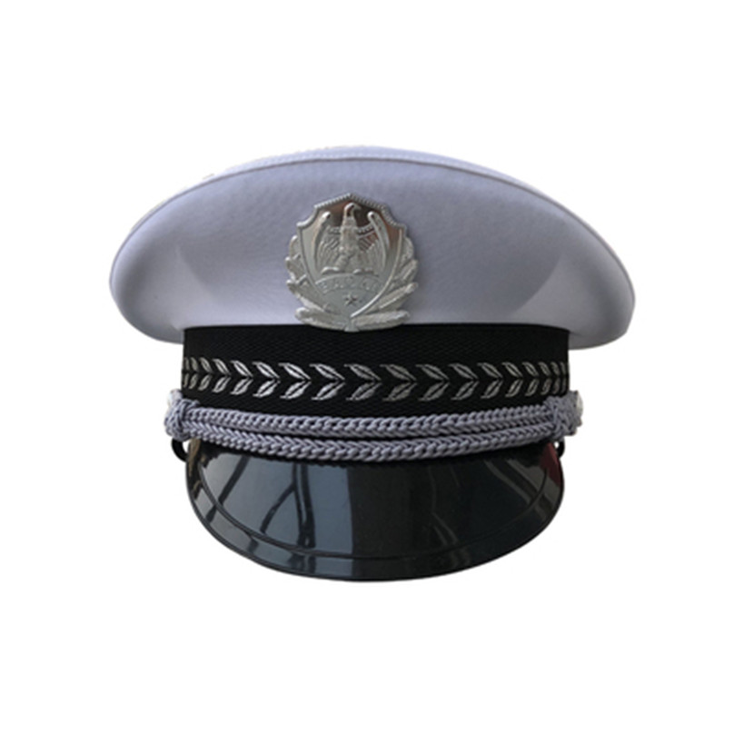 Military Costume Hats Navy Officer Caps Adult Men Military Hats White Cap