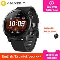 Huami Xiaomi Amazfit 2 Amazfit Stratos 2 Смарт часы мужские 5ATM водонепроницаемые с gps Xiaomi часы PPG монитор сердечного ритма
