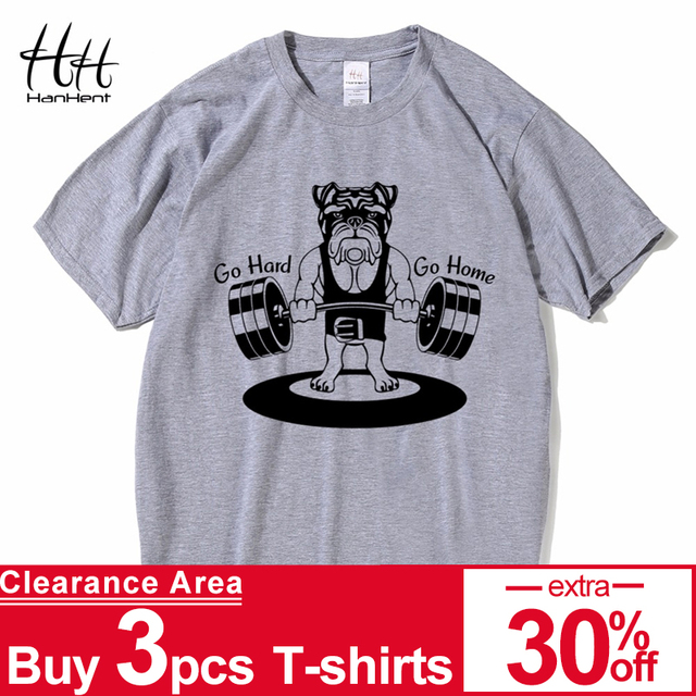 5c7beed99 HanHent Weightlifting Dog T shirts Mens Funny 2018 Fitness Cotton Tops  Summer Short Sleeve Tee shirts Bodybuilding T-shirts