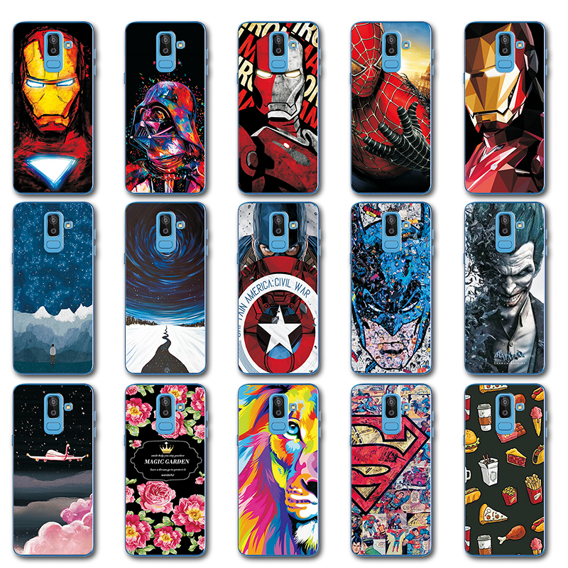 Novelty Hero Avengers Phone Bags For Samsung Galaxy J8 2018 Iron Man Painted Silicone Case Sm-j800f Cover For Samsung J8 2018 6 At All Costs Phone Bags & Cases