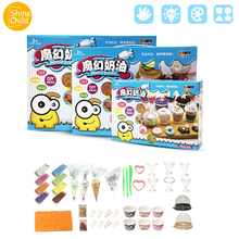 Cream Puree Slime DIY Kitchen Butter Clay Colors Nontoxic Soft Playdough Charm Handmade Cake Container Putty Tools Kit Play Toys diy dinosaur clay cotton charm play playdough suit with skeleton model maker putty kit polymer arena tool archeology kids toys