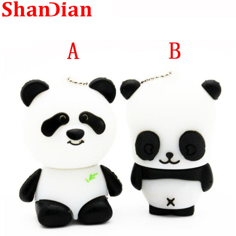 SHANDIAN Animal Panda  USB Flash Drive Mini Panda Pen Drive  Special Gift Fashion Hot Sale Cartoon 4GB/16GB/32GB 64GB U Disk