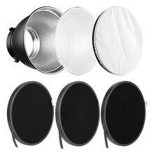 7 Bowens Mount Standard Reflector Diffuser Lamp Shade Dish + 10 20 30 40 50 degree Honeycomb Grid for Studio Flash Speedlite