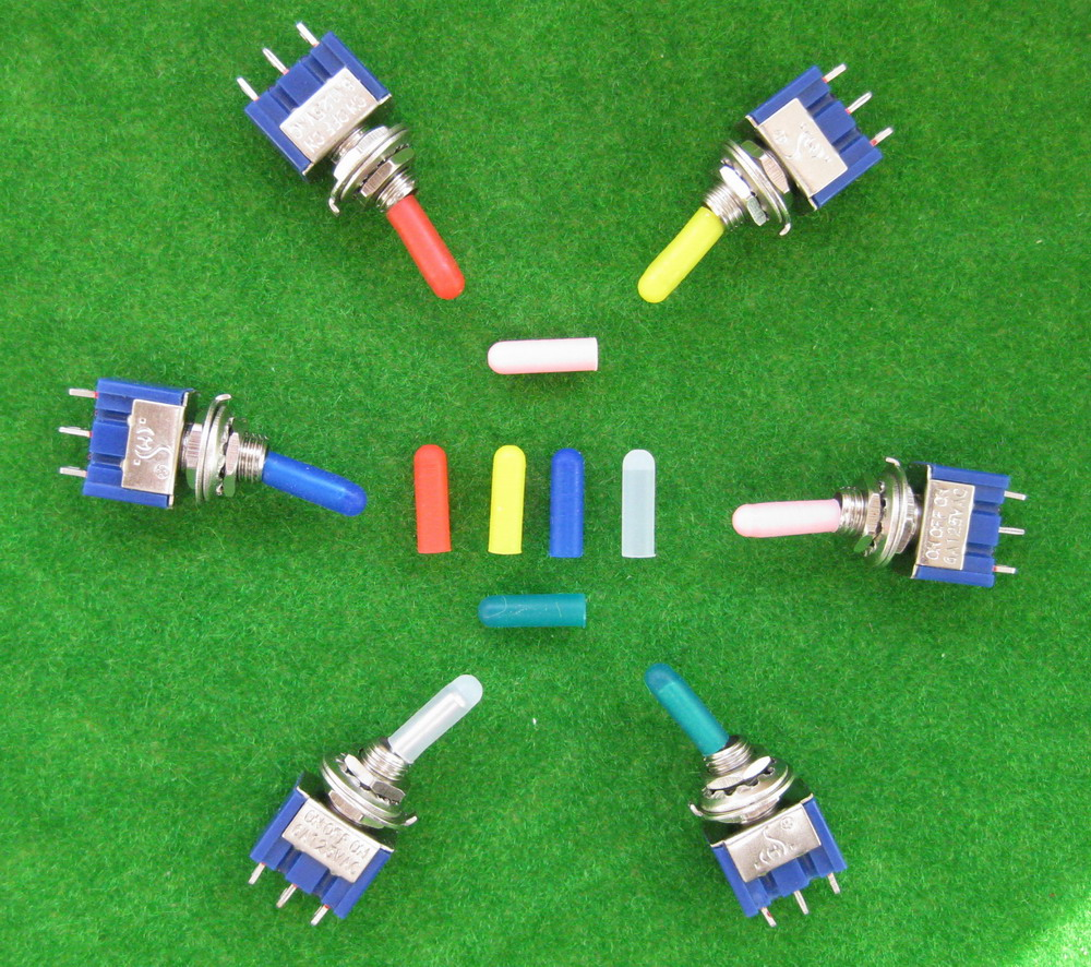 Xpt03m 100pcs Different Colors Miniature Toggle Switch