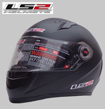 Free shipping high-grade genuine original LS2 FF358 motorcycle helmet safety helmet full helmet Racing / matt black