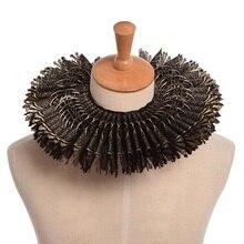 Black Ruffled Collar Retro Victorian Steampunk Lace Neck