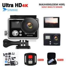 Ultra HD WiFi 4K camera 2.0 LCD helmet action cam 1080P/60fps sports video kamera waterproof Extreme sports DV Camcorder+cam bag