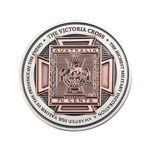 Antique Military Souvenir Challenge Coin with Dual Plating hot sale custom plating paint coin round souvenir challenge coin