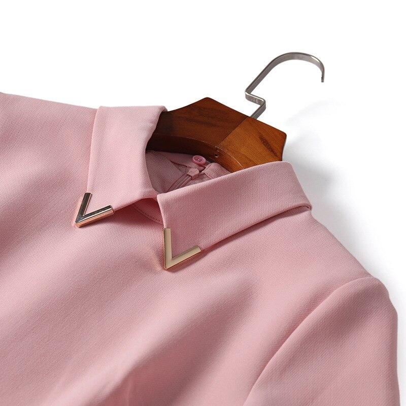 f9b91d2a4bb68b Kragen Party pink Sommer Frühling Ol Top Deco Schwarz Kleid Damen Rosa  Black Süße unten Kurzarm ...
