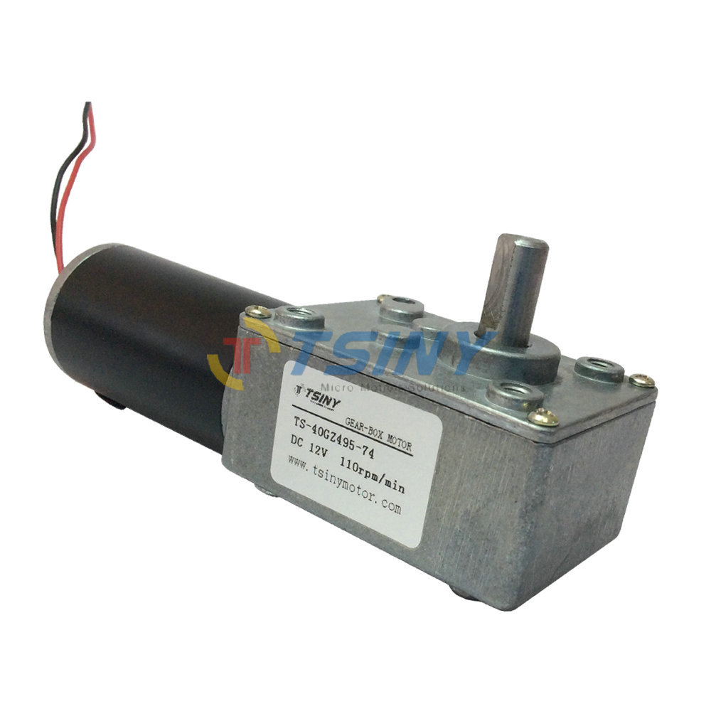 Electric DC 12V Worm Geared Motor High Speed 110rpm Permanent Magnet DC Motor with Self locking for DIY Parts