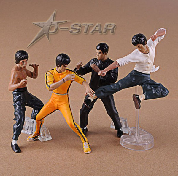 Free Shipping 4pcs Cool Bruce Lee Kung Fu Boxed PVC Action Figures Collection Model Figure Doll Toy Gift (4pcs per Set)