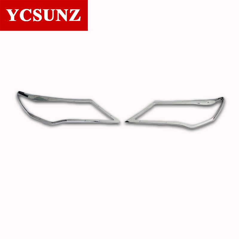 For Toyota Rav4 2014 2015 Accessories ABS Chrome Headlights Cover For Toyota Rav4 2014 2015 car-styling Rav4 Parts Ycsunz