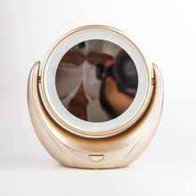 Makeup Mirror 5X Magnifying Double side with 10 LED Lightbulbs for Cosmetic & Skin Care Light Fashion Mirror