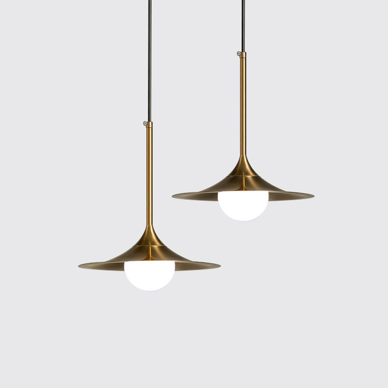 Nordic Modern Minimalist Glass Pendant Light Gold Gilt Iron Personality Cover LED Dining Room Bedroom Kitchen Hanging Light