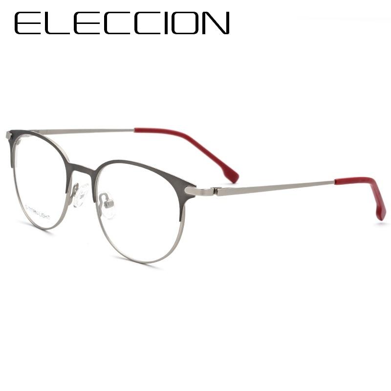 7f0eddfd08a ELECCION Fashion Hollow Design Pure Titanium Rim Frame Optics Myopia  Spectacles For Women Glasses Female Transparent