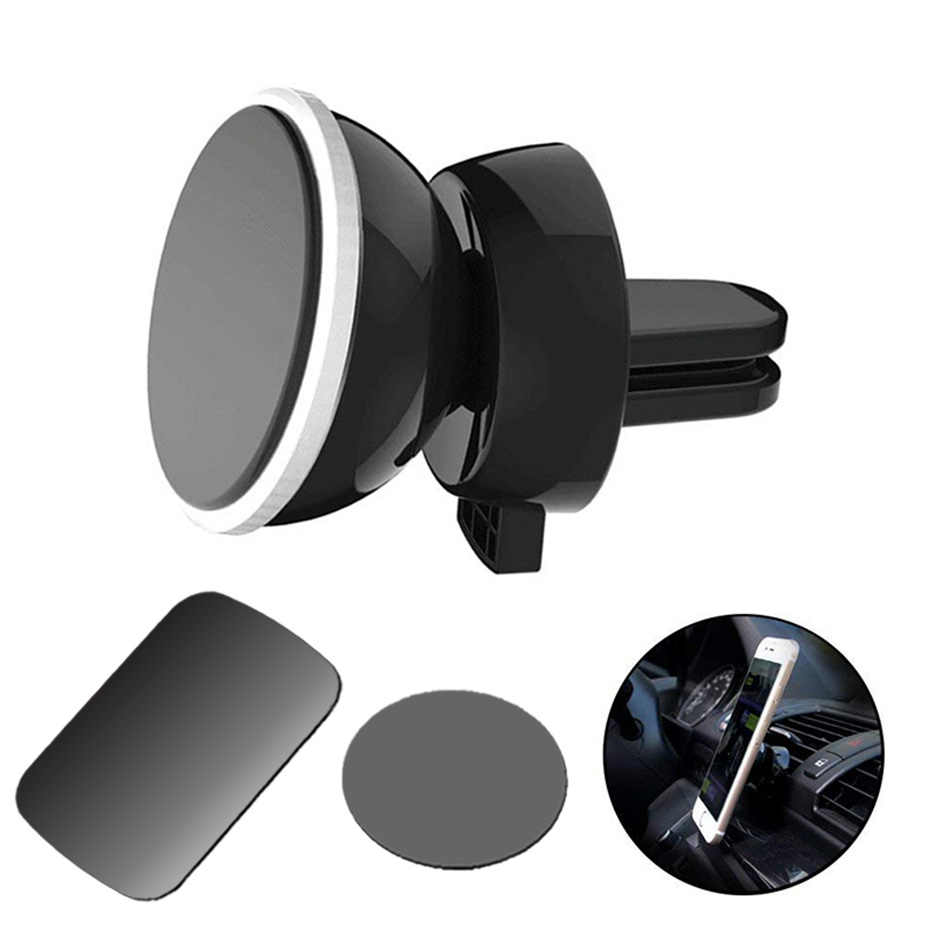 Leeioo Universal Smartphone Car GPS Bracket Air Vent Mount Magnetic Stand hoder with 2pcs plates Phone Holder Car Styling Tools