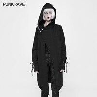 Punk Rave Gothic Black Cotton Fashion Cardigan Witches Sweater Women Coat