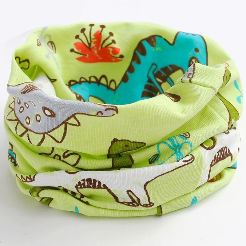Новинка; сезон осень-зима; шарф из хлопка для девочек; Детский шарф; нагрудный шарф для мальчиков и девочек с круглым кольцом; милый детский шарф с воротником; Bufandas - Цвет: green dinasour