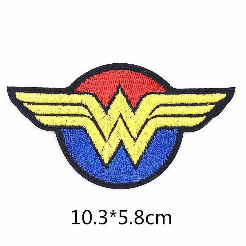 Baru 1pcs Avengers Wonder Woman Logo Besi Pada Patch Pakaian Untuk Pakaian Anak Laki Laki Bordir Diy Perbaikan Lencana Mengisi Lubang Tambalan Aliexpress
