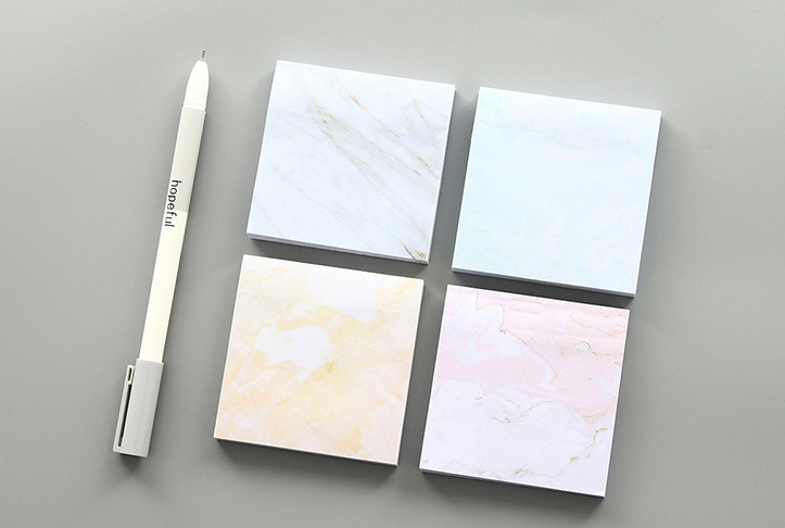 Creative marble stone texture Self-Adhesive Memo Pad Sticky Notes Post It Bookmark School Office Supply Escolar Papelaria