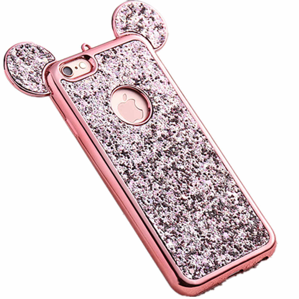 Per il iphone 6 6 s Lusso Brillante Bling Pieno Caso di Shell Duro Girly Crystal Case per iPhone 6 s Coque Fundas Coque de telefono per 6 s