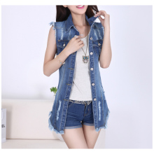 цены outwear coats vest cotton denim high street patchwork long vintage frayed turn down collar single breasted fasion summe