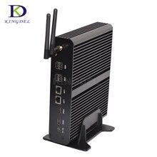 Большой Promtion безвентиляторный HTPC Intel Core i7 5550U двухъядерный Dual LAN безвентиляторный мини настольный компьютер PC 2 * HDMI Оптический неттоп pc NUC