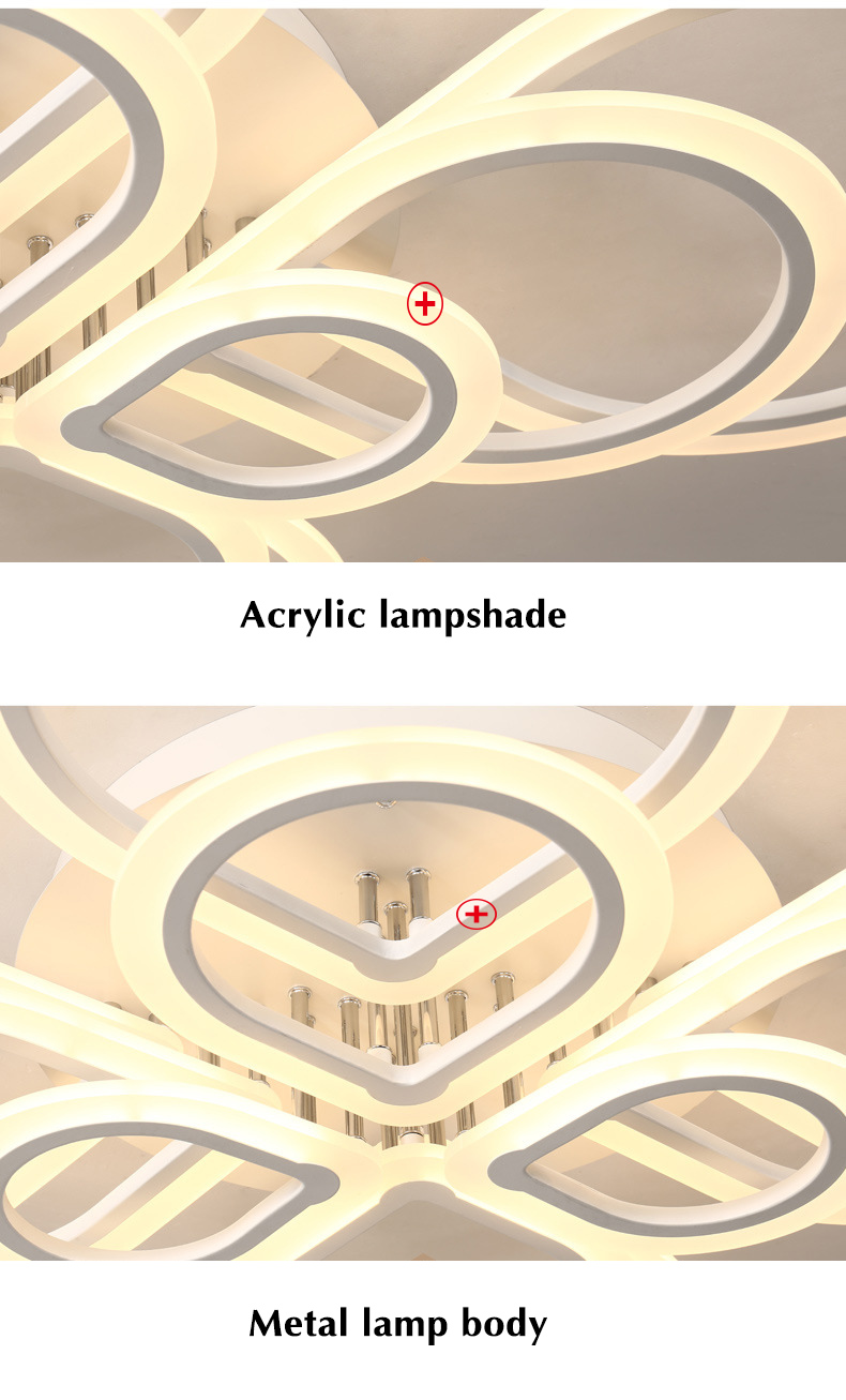 HTB11ZdGea5s3KVjSZFNq6AD3FXaj Lamps Plus Chandeliers | Crystal Ceiling Lights | Rings Modern Led Ceiling Light For Living room Bedroom Luminaires Black White Acrylic Surface Mounted Chandelier Ceiling Lamps 001