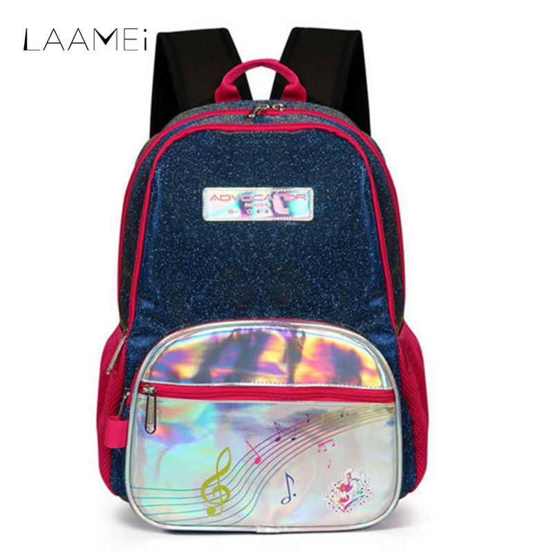 Laamei Casual Large Capacity Backpack Children Shining Blingbling Backbags Women Men Fashion Travel Backbags Satchel Mochila