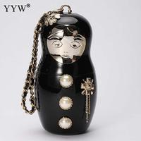 Cartoon Man Type Female Clutch Bag With Glass Pearl and chain Women'S Clutches Handbags 2018 New Designer Party Bags For Women