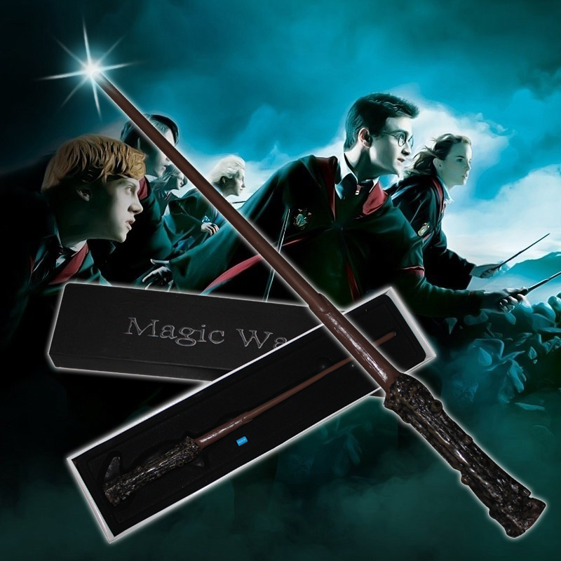 16 tipos Harri Potter varita mágica trucos juguetes para niños con caja de misterio clásico magia novedad juguete Colsplay Prop chico juguete