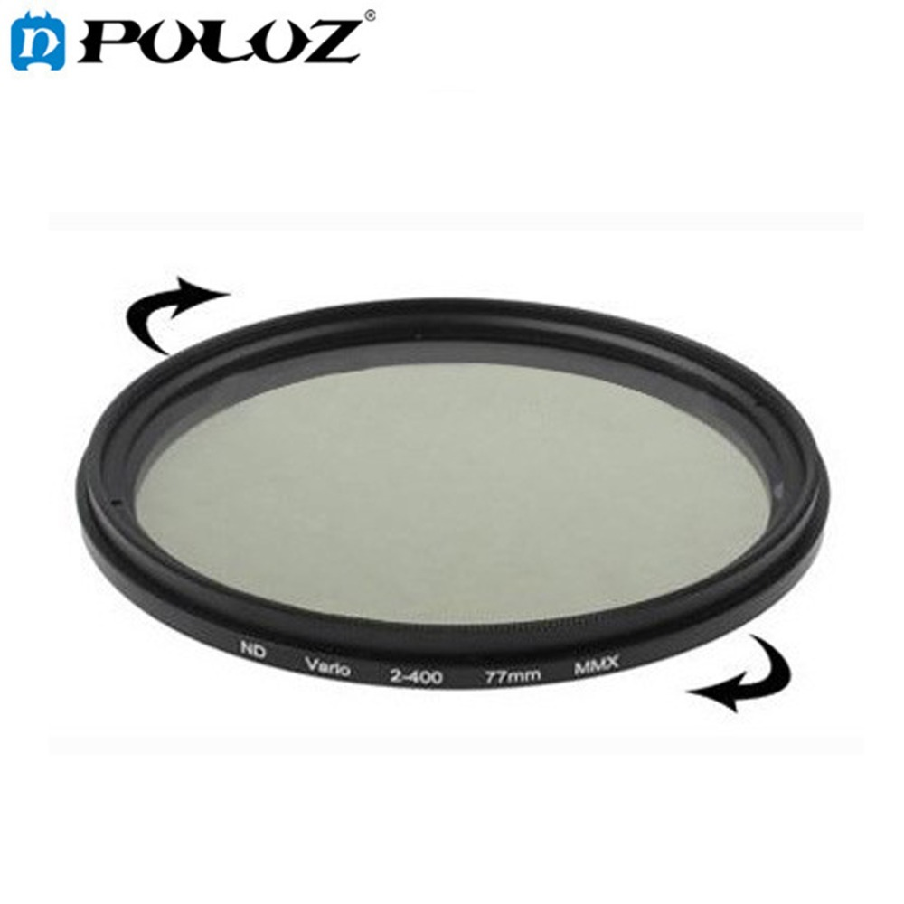77mm ND Fader Neutral Density Adjustable Variable Filter ND 2 to ND 400 Filter nisi ultra thin 77mm nd2000 nd neutral density filter 11 stops exposure nd 2000 super slim filter 77 mm