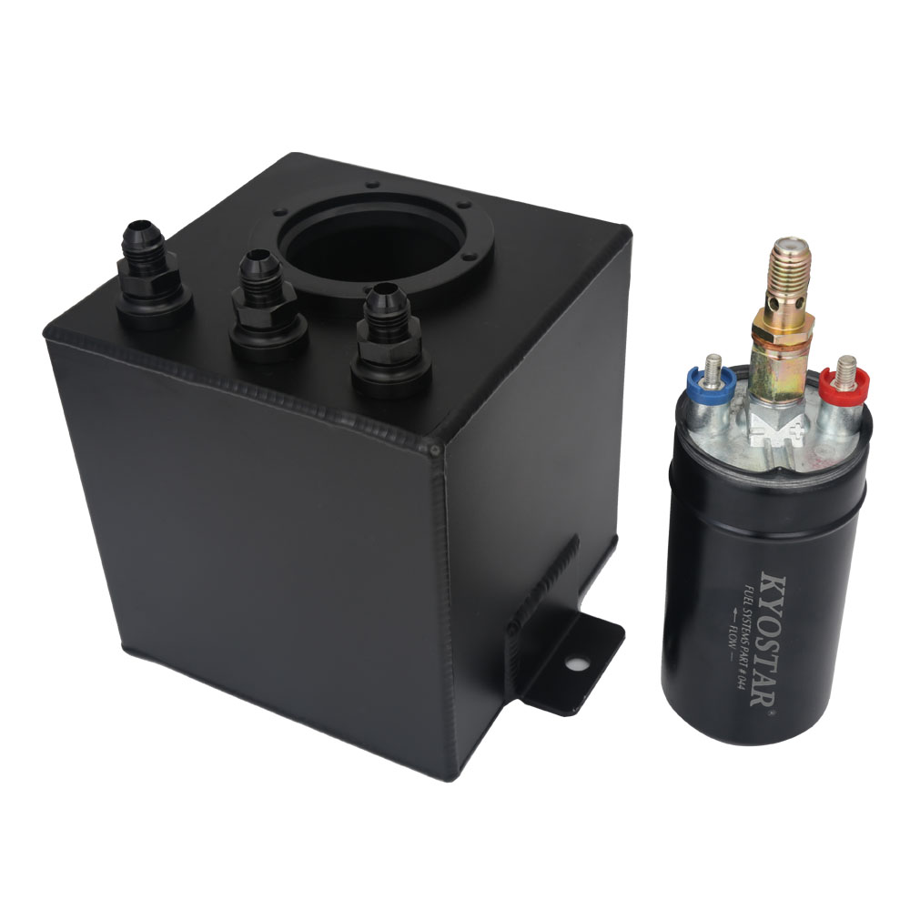 2L Black Billet Aluminum Fuel Surge Tank An6 Surge Tank 044 External Fuel Pump