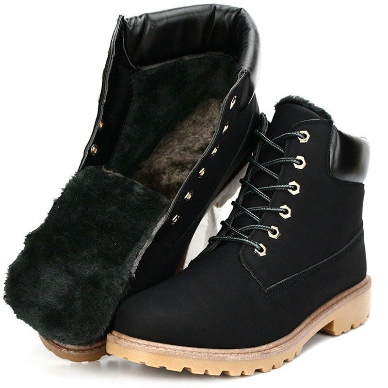 ZYYZYM Shoes Men Boots Autumn Winter PU Leather Unisex Style Plush Keep Warm Men Outdoors Shoes Motorcycle Boots Men in Motorcycle boots from Shoes