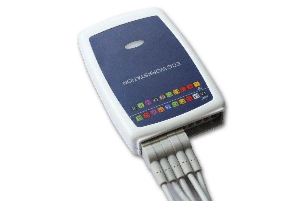 Fabricante grátis Contec8000G Multi-função Contec PC ECG/EKG Workstation Sistema 12 Chumbo Descansando