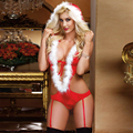 new 2016 cosplay santa claus costume women sexy christmas costumes for adults Santa Hottie Helper Romper Costume 7249