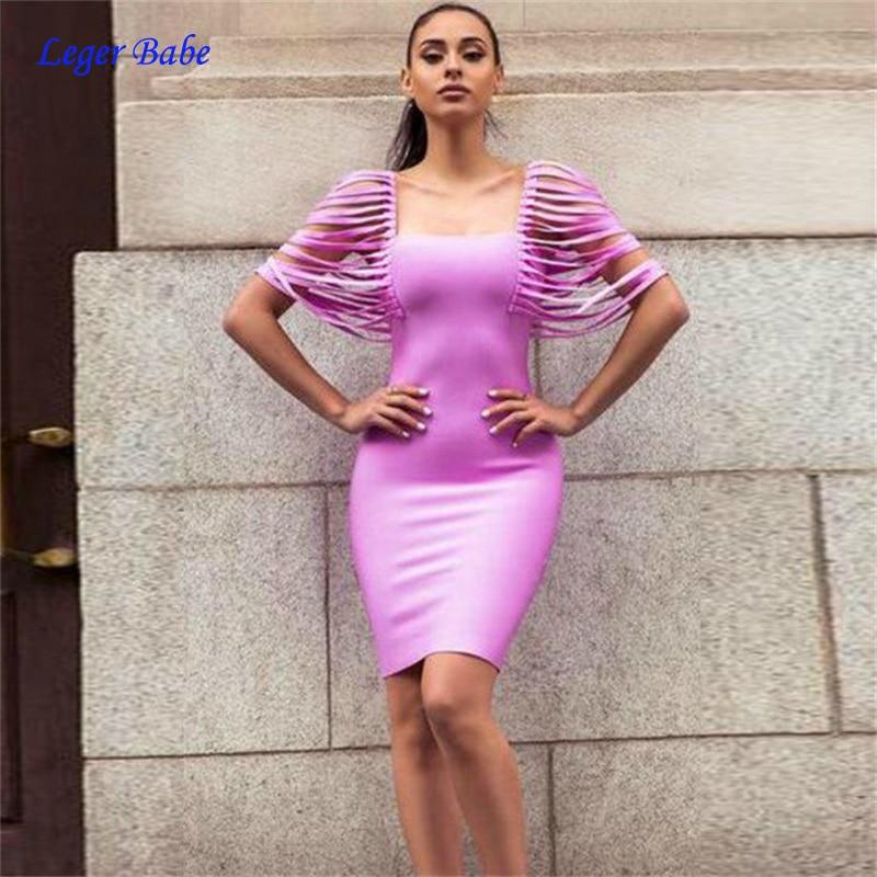Detail Feedback Questions about Leger Babe Chic Summer Women Fringe  Shoulder Square Collar Elegant Celebrity Bandage Dress Party Mini Tassel  Dresses Hot ... 9c5fbf02521a