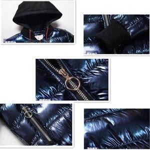 Image 5 - Зимнее пальто для мальчиков, парка, хлопковая стеганая куртка для больших детей, теплая пуховая куртка с бронзовым капюшоном, утепленная водонепроницаемая верхняя одежда для подростков