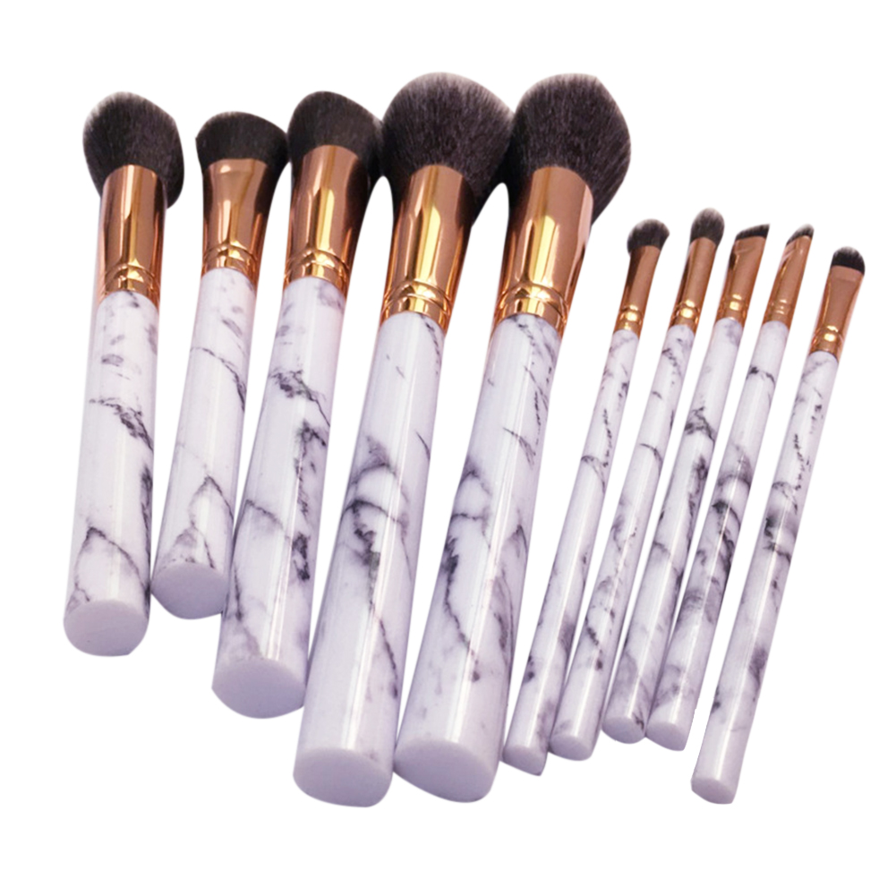 10pcs Marbling Professional Makeup Brush Set tools Make-up Toiletry Kit Brand Make Up Brush Set pincel maleta de maquiagem 147 pcs portable professional watch repair tool kit set solid hammer spring bar remover watchmaker tools watch adjustment