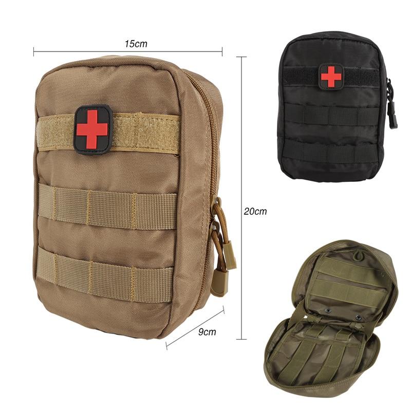 La supervivencia al aire libre táctico médico de primeros auxilios Kit Molle médico EMT cubierta de emergencia militar paquete caza cinturón bolsa