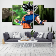 Dragon Ball Super Negro Goku 5-delig HD-behangkunst Modern canvas Modern Poster Modulair schilderen voor de woonkamer Decor