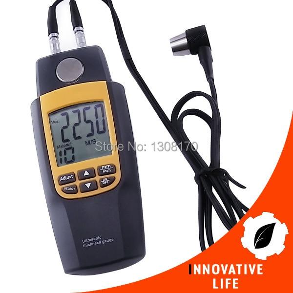 Digital Dual Ultrasonic Thickness Meter Gauge Tester Velocity 1.2~220mm Iron Seel Glass Plastics Brass Gold Silver Zinc  цены
