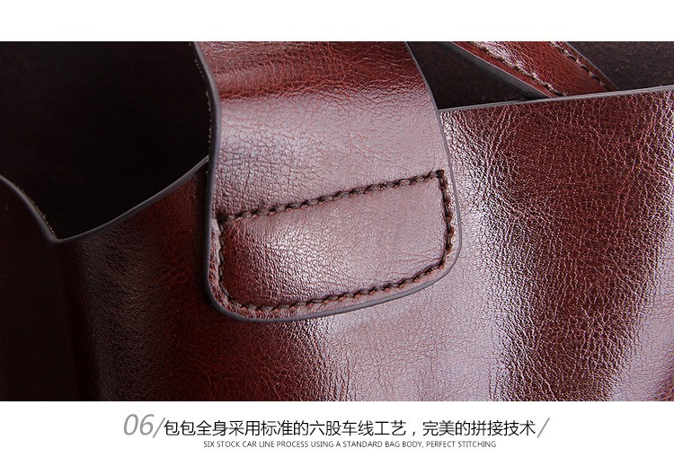 Big Bag Women Handbags Genuine Leather Oil Wax Cowhide Handbags Lady Real Leather shoulder Messenger Bags Generous Fashion Bag (26)