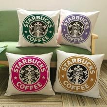 Cojines decorativos Patrón de Starbucks Serie de Impresión Cojín Almohada En El Sofá Para La Decoración Casera